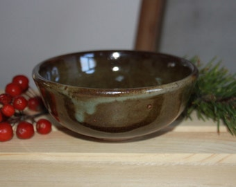 Green and Blue Drips Spotted Ceramic Bowl, Soup Cereal Pasta Bowl, Kitchen Clay Bowl, Unique Dips Bowl, Modern Home Decor