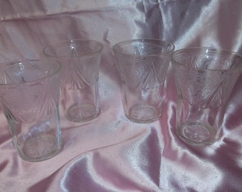 Royal Lace clear tumblers set of 4