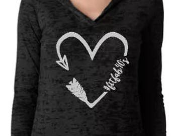Fit Fab 40s Heart - Burnout Hoodie