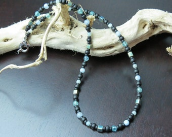 Boy's School Prep, Healing Stone, Amazonite, Apatite and Aquamarine Necklace with Positive Healing Energy!