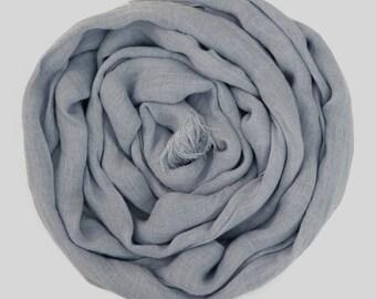 Blue Linen Scarf , Womans scarves, Mens Scarf /Linen Scarf For Him / Scarves For Men Long classic Linen Scarves
