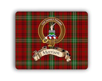 Morrison Scottish Clan Tartan Crest Computer Mouse Pad
