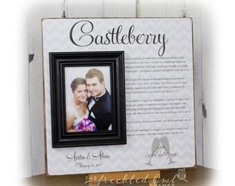 WEDDING GIFT from Maid of Honor, Wedding Gift from Bridesmaids, Wedding Gift from Best Man,  Gift for Couple, Wedding Toast Frame 16x16