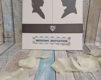Star Wars Theme Han Solo and Princess Leia Wedding Invitations