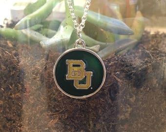 Baylor University jewelry, Bears necklace, college necklace, college jewelry