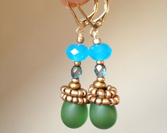 Boho earrings, Beaded earrings, Boho jewelry, Bohemian jewelry, Gift for women, Gift for her, Handmade jewelry, Dangle Earrings, Jewelry