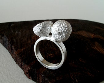 Acorn Ring Sterling Silver Acorn Ring Cast From Natural Acorn