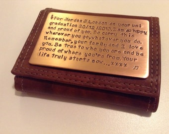 Personalized wallet insert 7th anniversary gift, Groom gift
