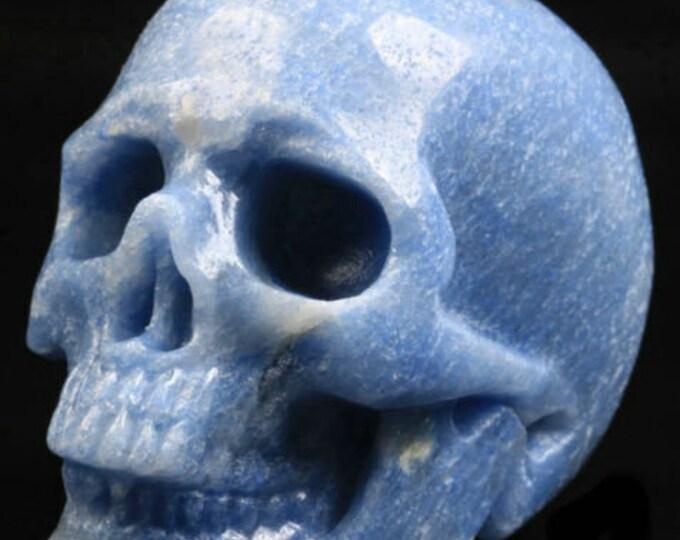 Blue Aventurine Carved Skull  #038