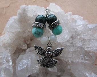 Gemstone Angel Jewelry - Prosperity and Abundance Crystal Bead Pendant