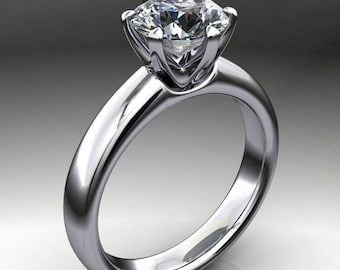 jolie ring – 1.5 carat colorless round NEO moissanite engagement ring