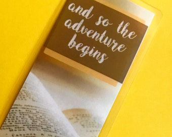 The Adventure Begins Bookmark, Travel Book mark, Journey Bookmark, Traveler Book Mark, Explore Bookmark, Reading Gift, Unique Books