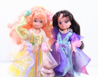 Vintage 80s Mattel TCFC Lady Lovely Locks Maiden Curly Crown and Duchess Ravenwaves Lot of 2 + 4 Pixietails, lady lovely locks, mattel dolls