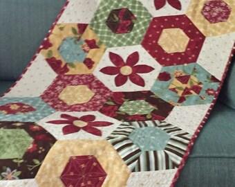 Secret Garden Table Runner, Floral Table Runner, Table Linens, Washable Table Linen, Housewarming Gift, Teacher Gift