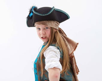 Kids Pirate Costume Bandana | Pirate Head Scarf | Boys Pirate Hat Accessories | Captain Hook Bandana | Pirate Princess Sash