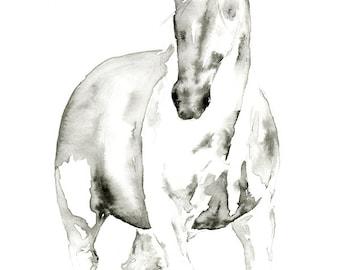 Horse Painting, Abstract Horse Art Print Horse Watercolor Equestrian Decor Horse Wall Art Horse Abstract Painting of Horse Large Horse Print
