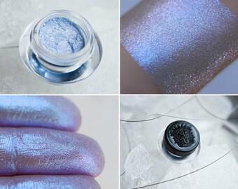 Eyeshadow: Ice Chains Breaker - MoonElf. Pale blue shimmering eyeshadow by SIGIL inspired.
