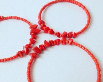 EcoFriendly Red Shard Bracelet