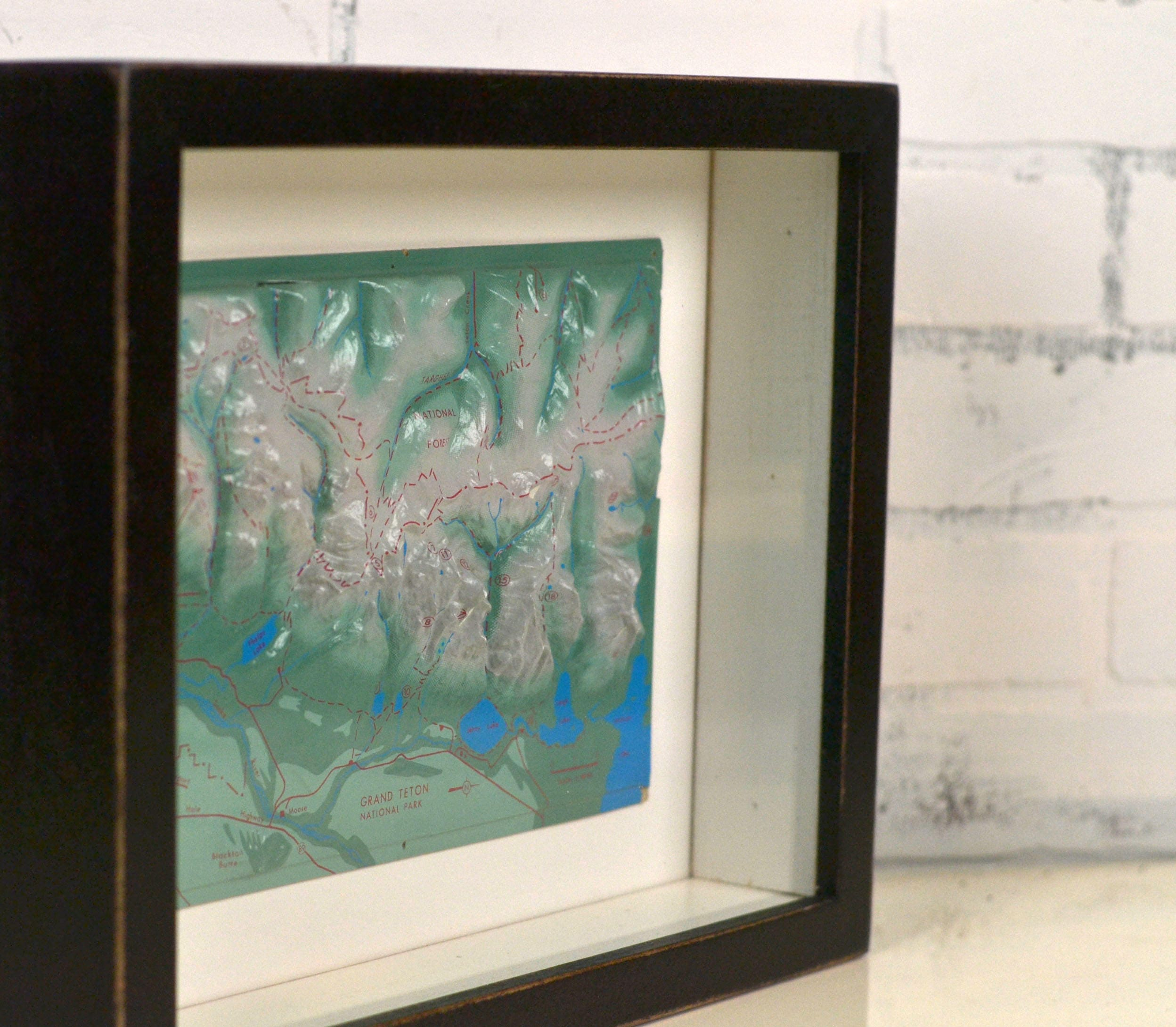 Shadow Box Frame - Holds up to 10 x 13 x 2 deep - with Vintage Black ...