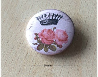 "badge 25 mm ""Crown 06"""