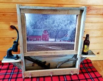 Barn wood  shelf frame