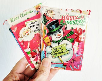 Vintage Christmas Gift Tags / Lot of 50 / Daily Planner / December / Junk Journal