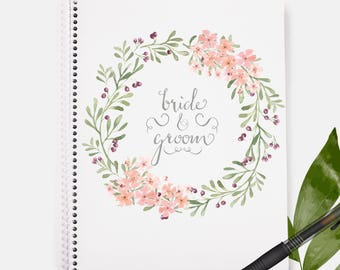 Bride and Groom Notebook| Bachelorette Gift | Bride Gift | Wedding Planning  | Wedding | Wedding Gift | Bridal Shower Gift | Bridal Shower