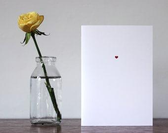 My Tiny Heart - Letterpress Greetings Card - Anniversary - Valentine's Day