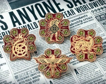 "Fantastic Beasts themed ""Ilvermorny"" School Houses Enamel Lapel Pin(s) - Choose one"