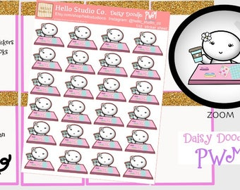 PWM planner stickersOriginal doodle kawaii stickers