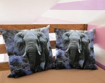 Elephant Pillow Elephant Throw Pillow Fractal Art Square Pillow