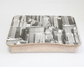 Wooden Laptop Bed Tray / Ipad Tray / Serving Tray / Breakfast Tray / Pillow Tray / Laptop Stand Big City