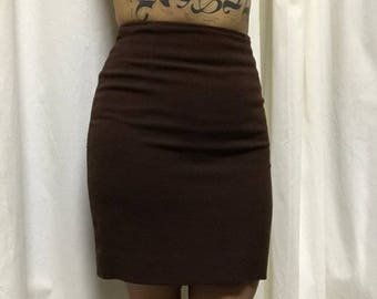 Vintage made in France brown pencil skirt