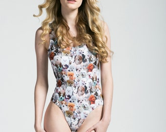 Puppy Pile Perfect Cut One Piece Bathing Suit