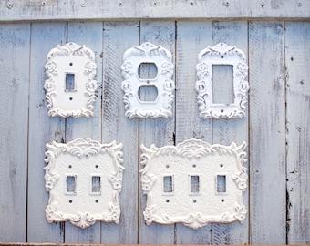 Light Switch Plates, Light Switchplates, Wall Plate Cover, Light Switch Cover Plates, Shabby Chic, Wall Plates, Switch Cover, Wall Plates