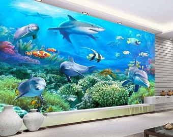 3D Underwater world 88 Wallpaper mural Wall Print Decal Wall Deco Indoor wall Murals Wall Sticker kids Child Wallpaper murals