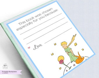 Printable Bookplates-Baby Shower Bookplates-Book Plates-INSTANT DOWNLOAD-Bookplates-love Bookplates- Childrens Bookplate,The Little Prince