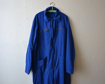 Vintage overall MOLINEL / COVERALLS Full Cover Jumpsuit Artist Painter Suit Outerwear / french Workwear work coast / small medium RIKrI