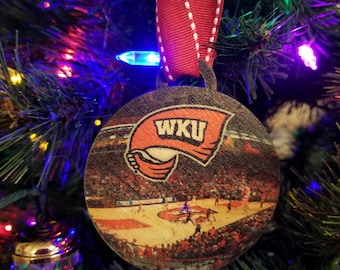 WKU Western Kentucky University Hilltoppers Basketball Christmas Ornament / gift tag