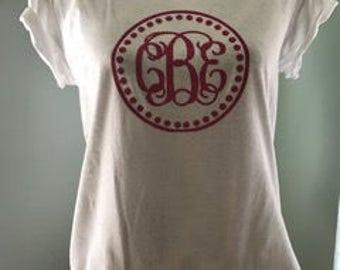 Glitter Vine Monogram Shirt