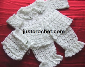 Pram Outfit Baby Crochet Pattern (DOWNLOAD) 03