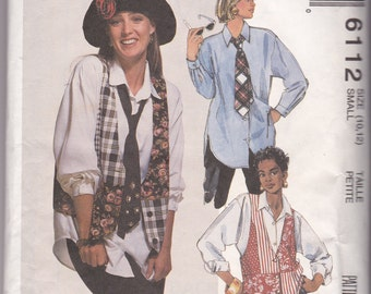 Vintage Shirt and Vest Sewing Pattern