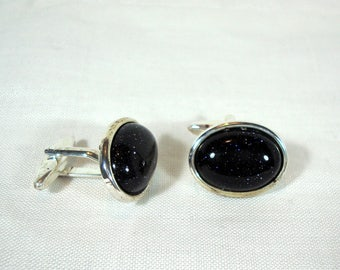 Blue Goldstone Cufflinks