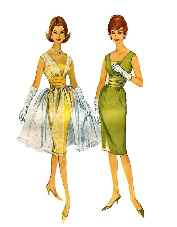 1960er Jahre SEXY COCKTAIL-Kleid Muster Brautjungfernkleid