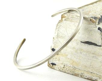 Square sterling silver cuff, silver cuff bracelet, solid sterling silver, men's cuff bracelet.