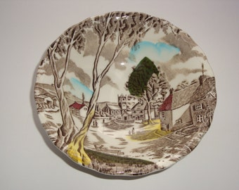 WH Grindley Tunstall England Cereal Bowl - Sunday Morning Pattern