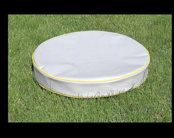 Tough Dog Bed 18 OZ Waterproof Fabric, Round Bed, For Dogs That Dig, Removeable Zipper Cover, Replacement Cover, Duvet Bed, 16 Colors, 28x4