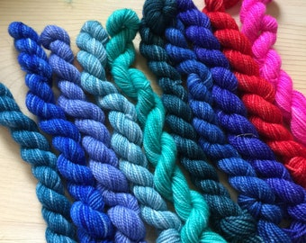 10 mini skeins