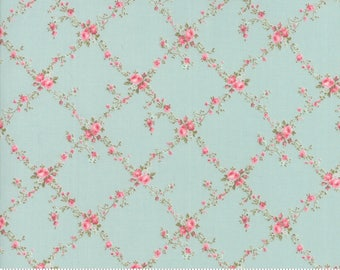 Caroline -  Lattice Aqua 1865112 - 1/2yd