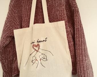 Tote bag mini heart